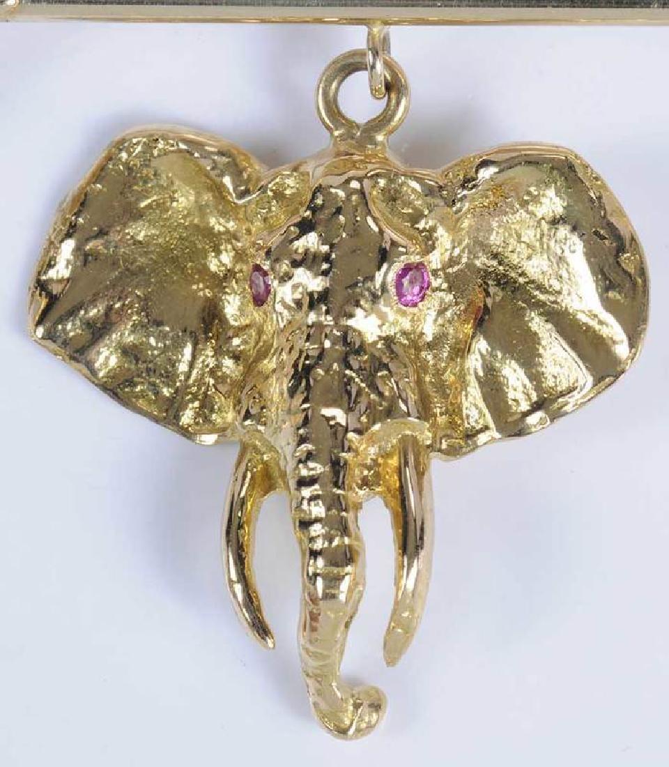 Gold & Ruby Animal Brooch - 3