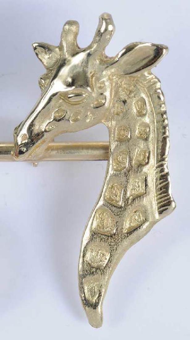 Gold & Ruby Animal Brooch - 4