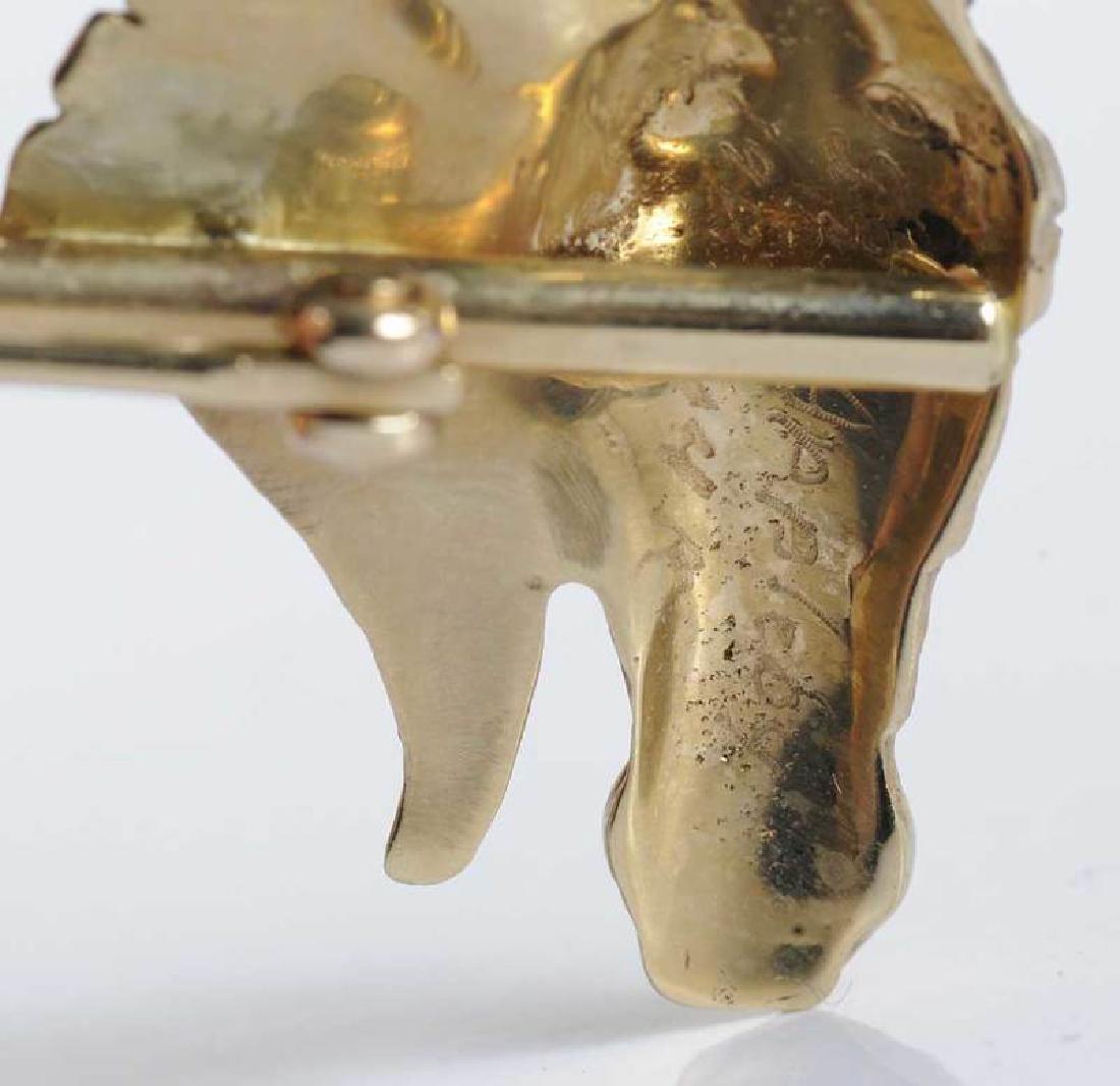 Gold & Ruby Animal Brooch - 6
