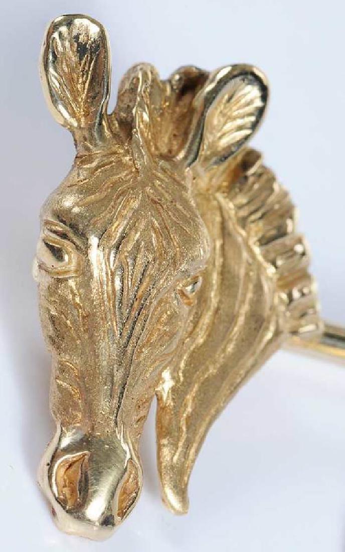 Gold & Ruby Animal Brooch - 8
