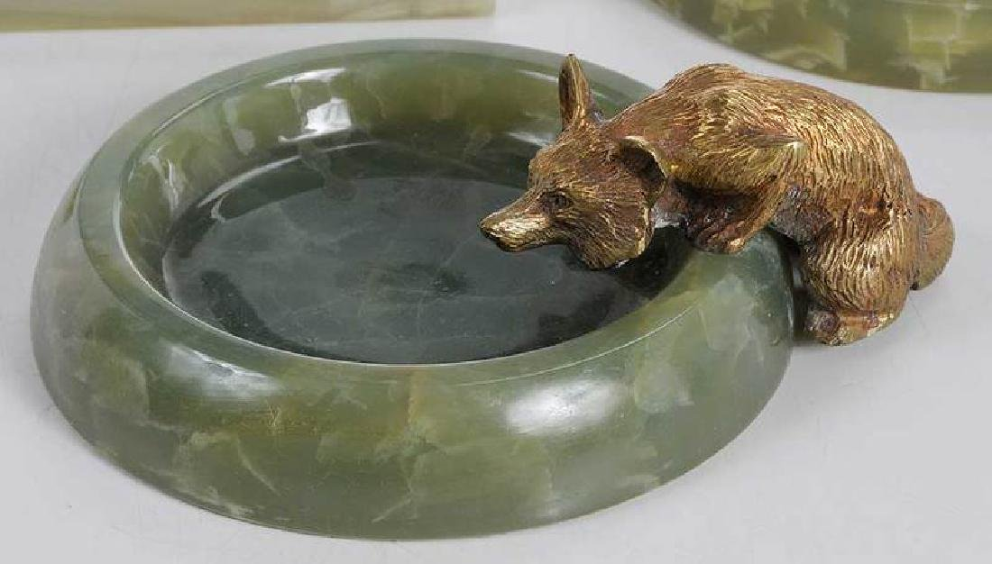 Three Sporting Related Onyx and Bronze Ashtrays - 2