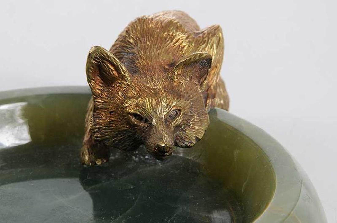Three Sporting Related Onyx and Bronze Ashtrays - 3