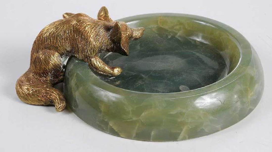 Three Sporting Related Onyx and Bronze Ashtrays - 4