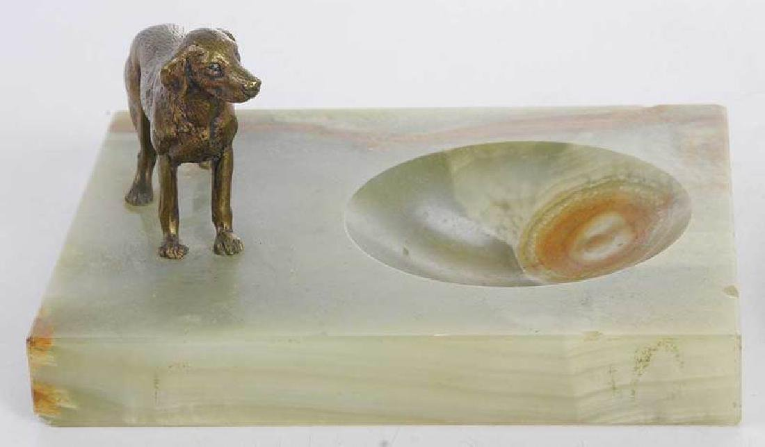 Three Sporting Related Onyx and Bronze Ashtrays - 5