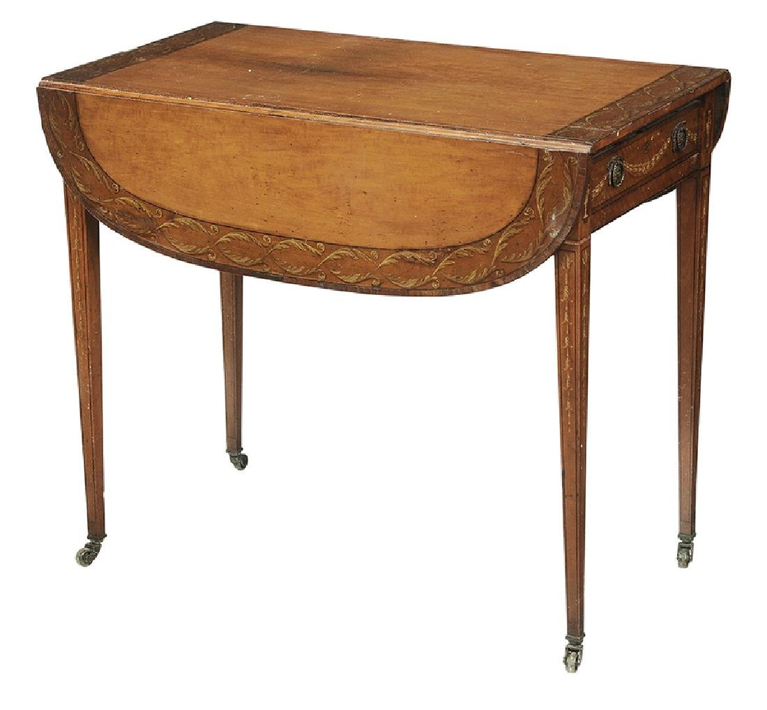 Adam StylePaint Decorated Pembroke Table