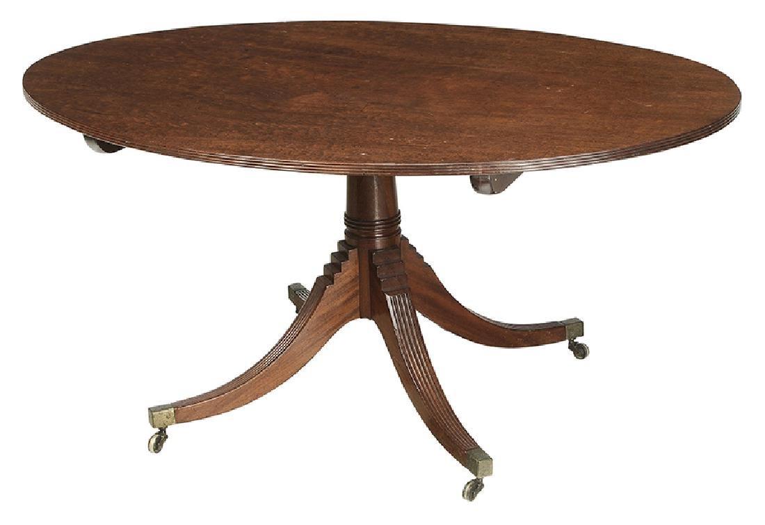 Regency Style Mahogany Tilt Top Breakfast Table