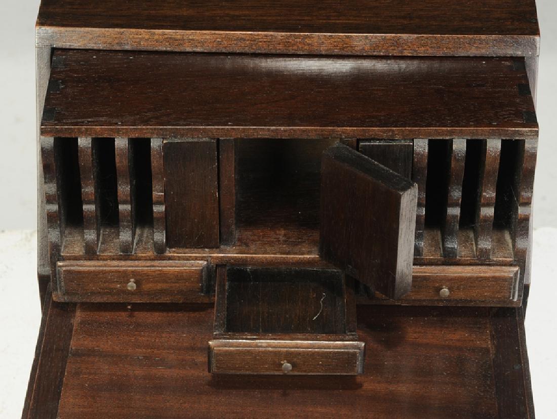 Georgian Five Drawer Miniature Chest, Desk - 6