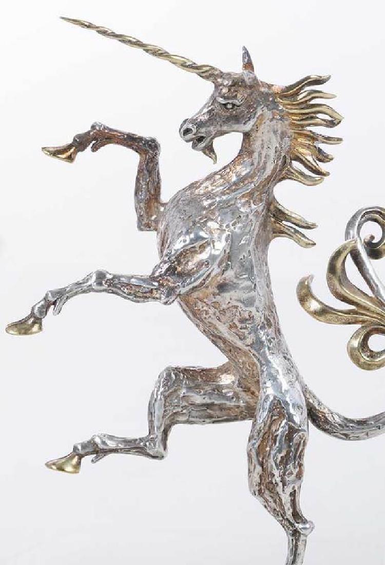 Two Gilt English Silver Figures - 2