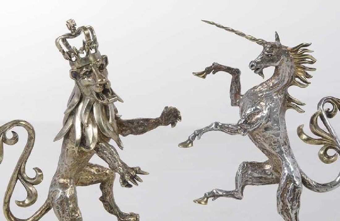 Two Gilt English Silver Figures - 4