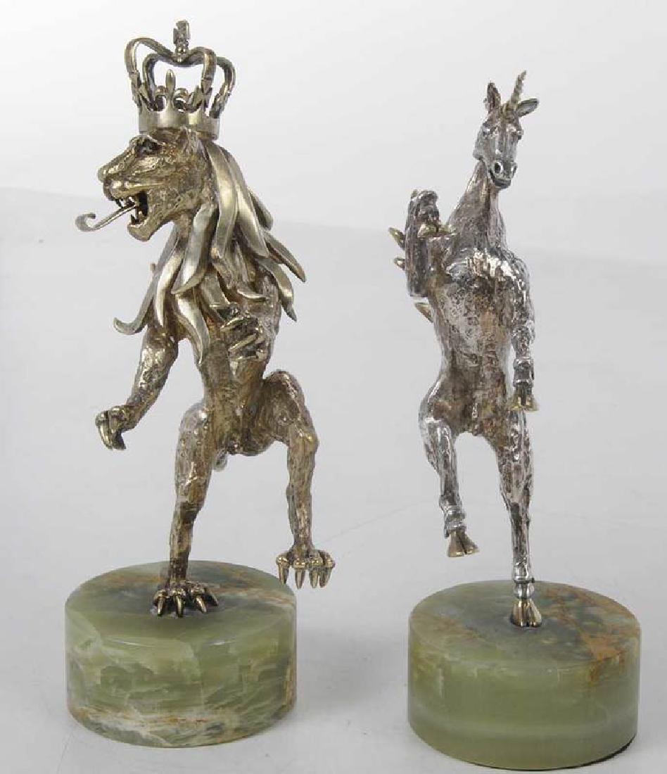 Two Gilt English Silver Figures - 5
