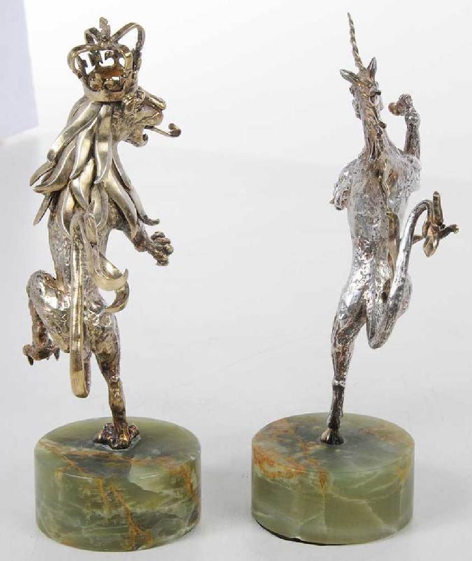 Two Gilt English Silver Figures - 7
