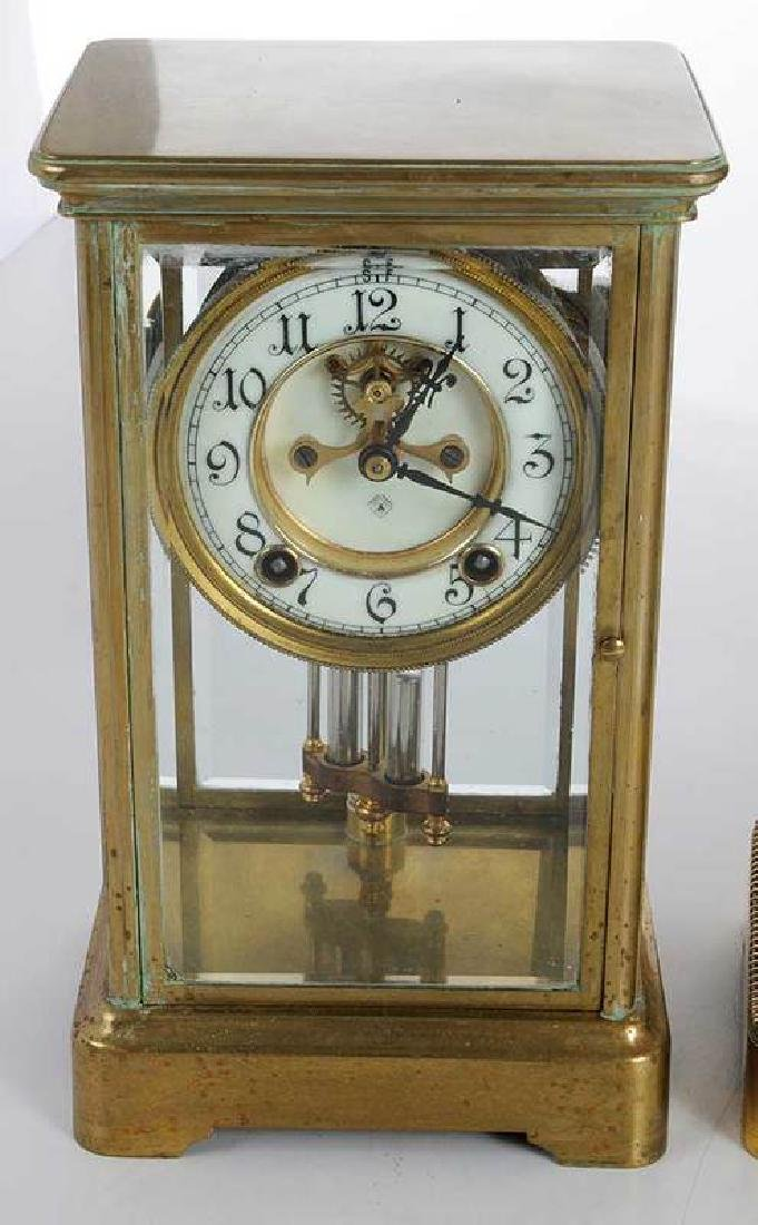 Three Large Brass Carriage Clocks - 2