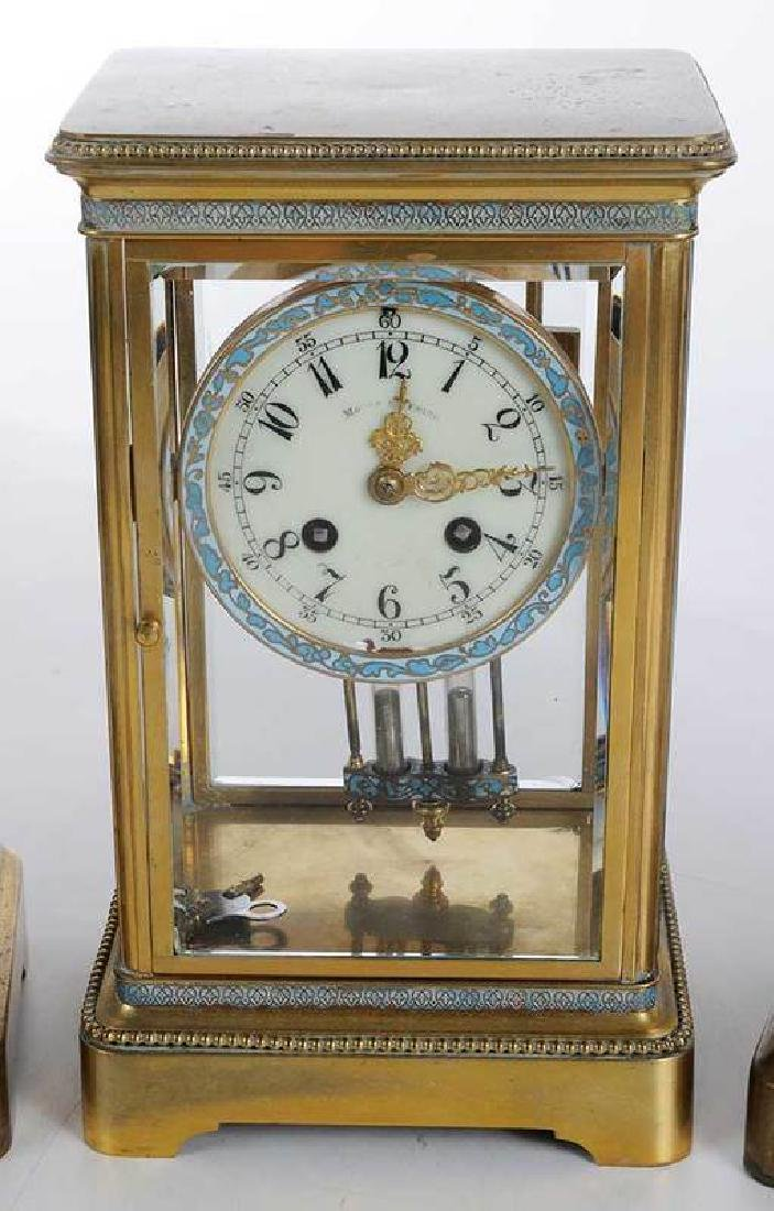 Three Large Brass Carriage Clocks - 3