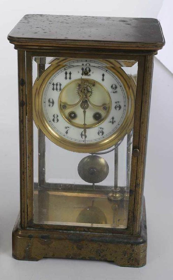 Three Large Brass Carriage Clocks - 4