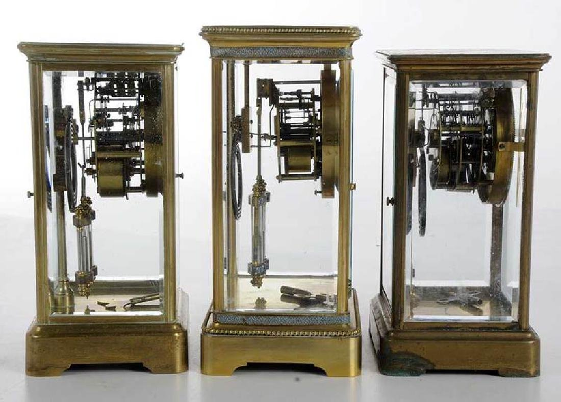 Three Large Brass Carriage Clocks - 5