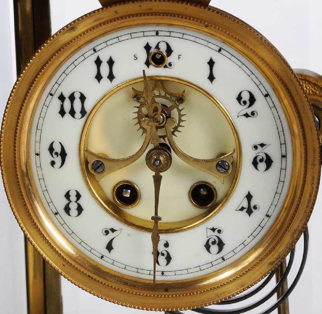 Three Large Brass Carriage Clocks - 8