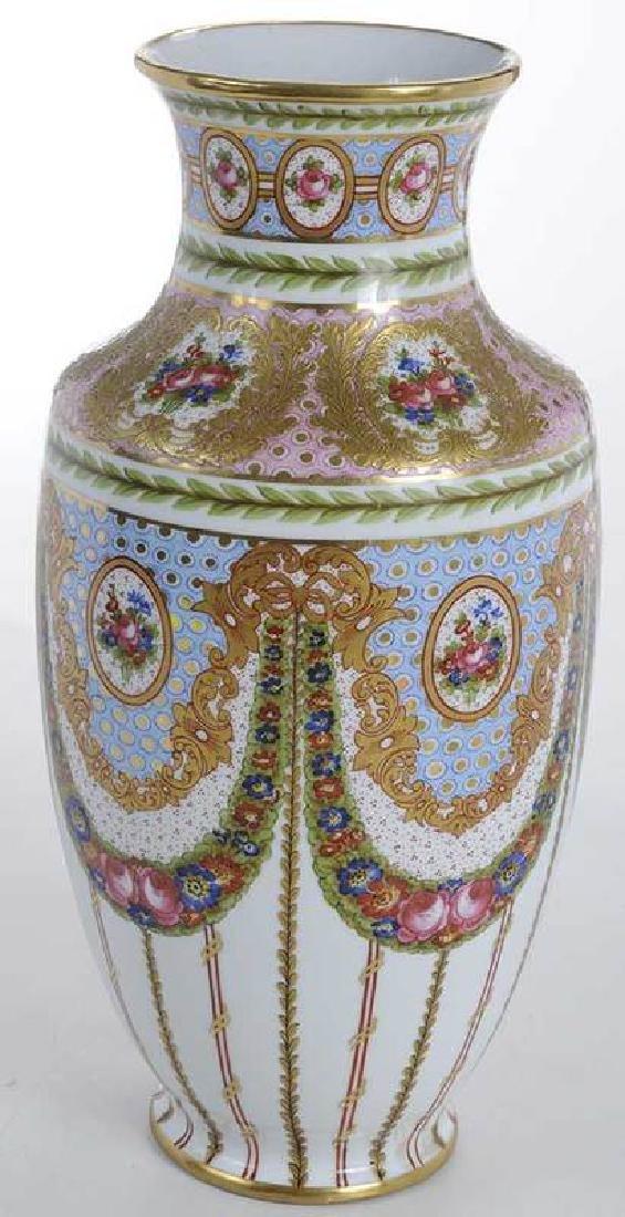 Large Sevres Gilt and Floral Vase - 5