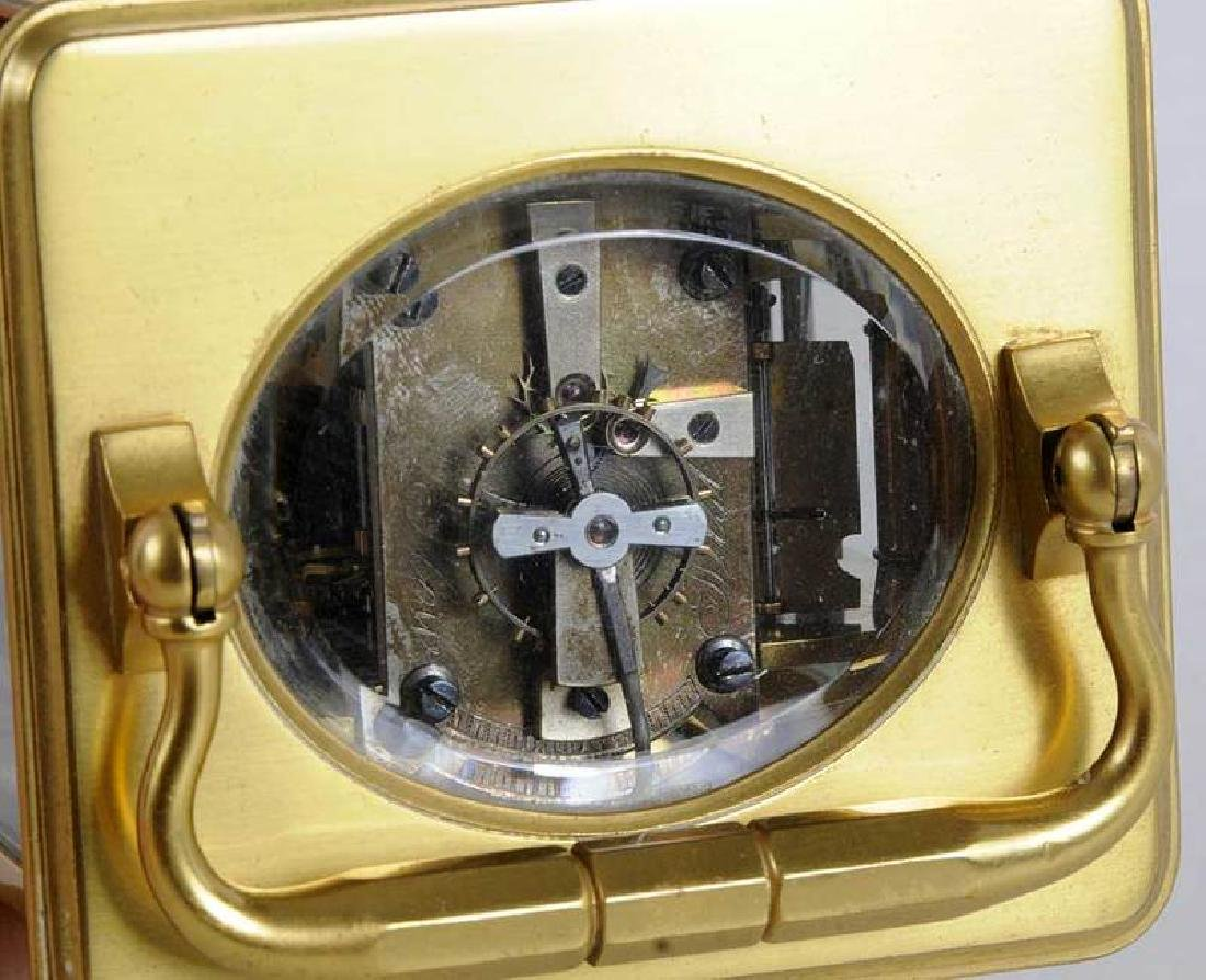 Two Gilt Brass and Beveled Glass Carriage Clocks - 10