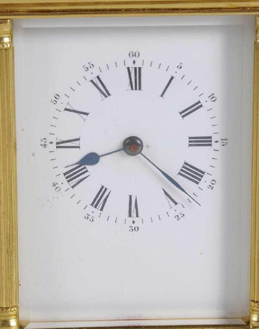 Two Gilt Brass and Beveled Glass Carriage Clocks - 4