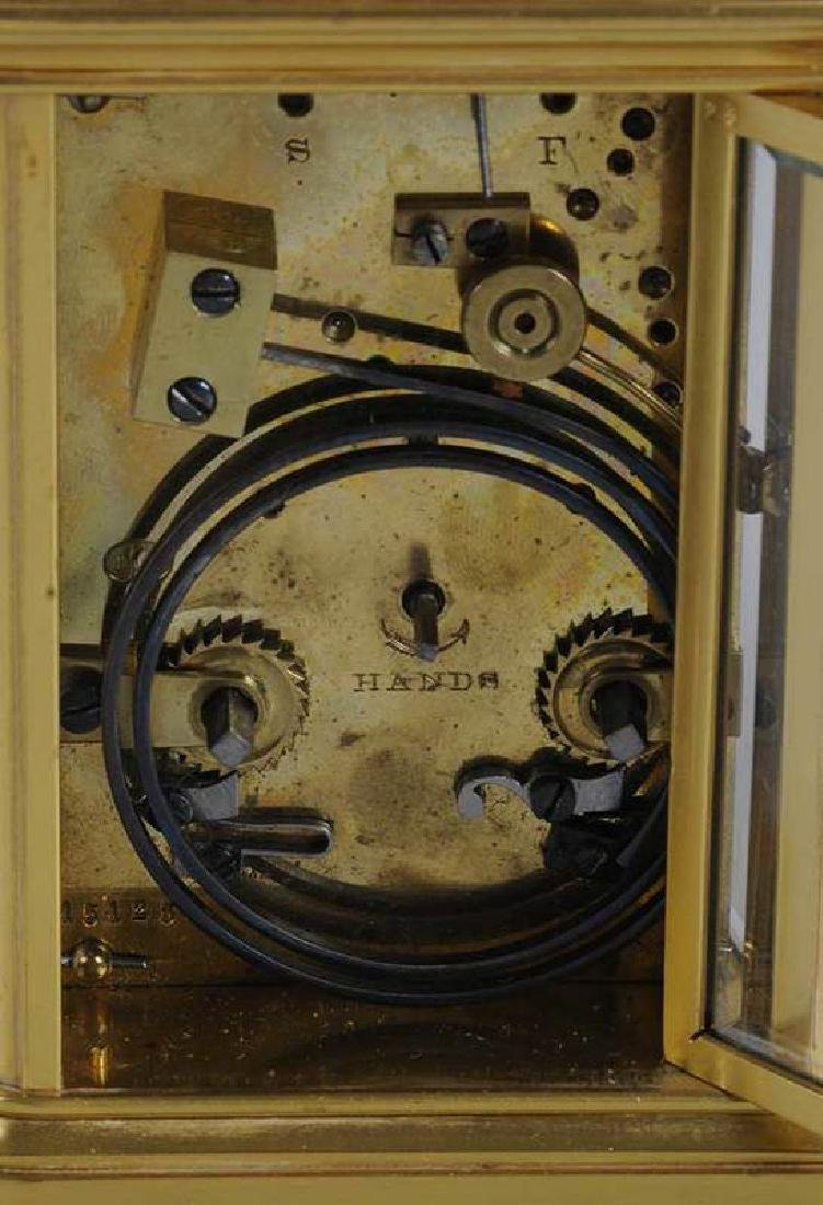 Two Gilt Brass and Beveled Glass Carriage Clocks - 7
