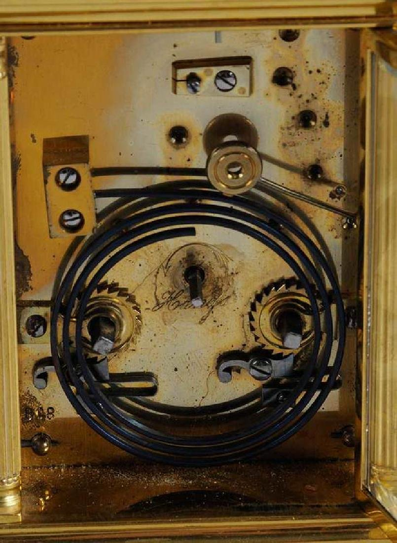 Two Gilt Brass and Beveled Glass Carriage Clocks - 8