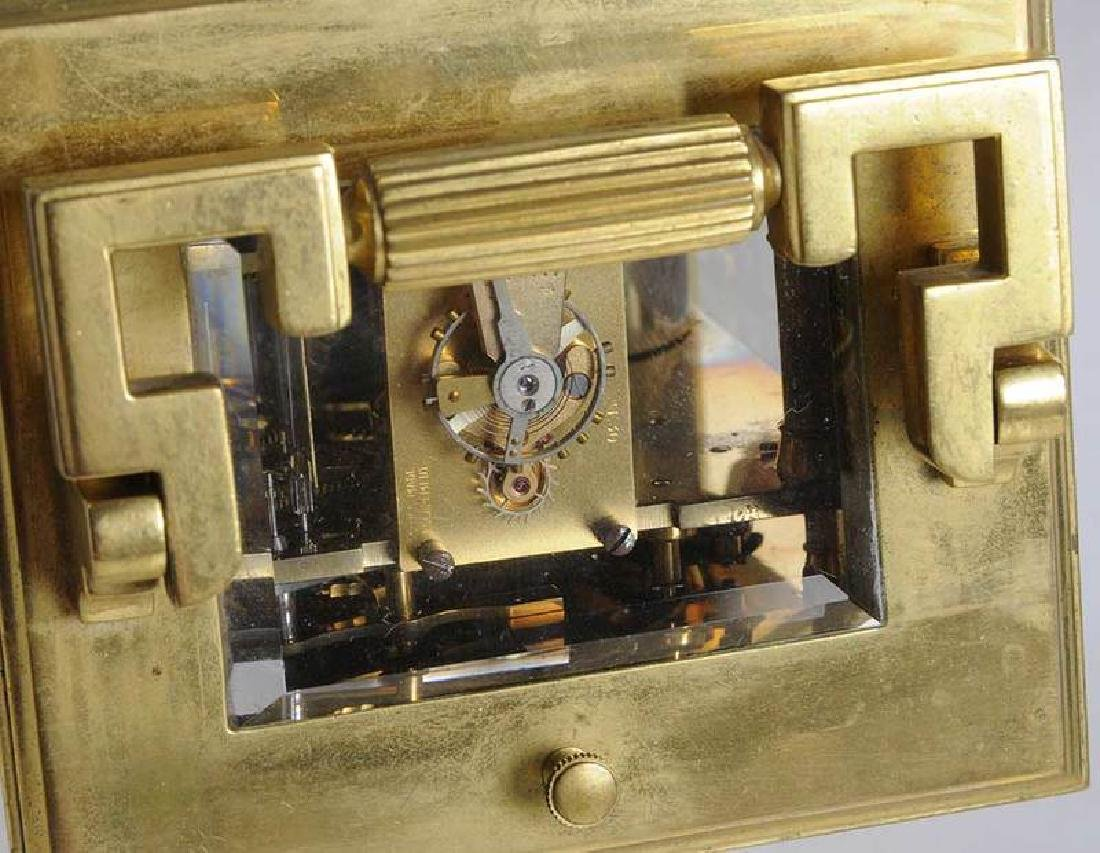 Two Gilt Brass and Beveled Glass Carriage Clocks - 9