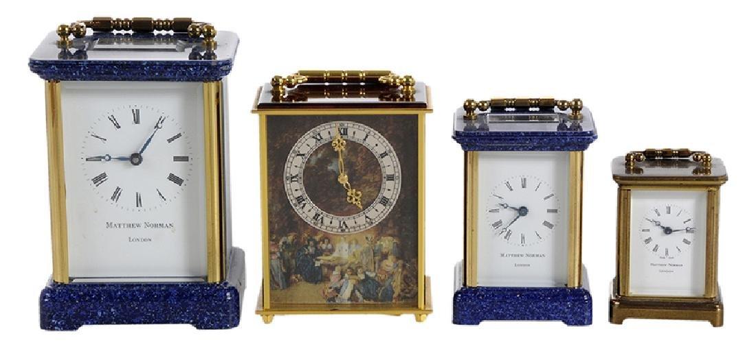Four Modern Carriage Clocks