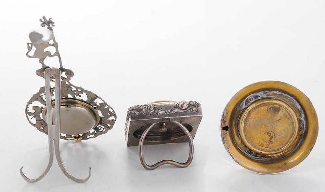 Three Silver Clocks - 5