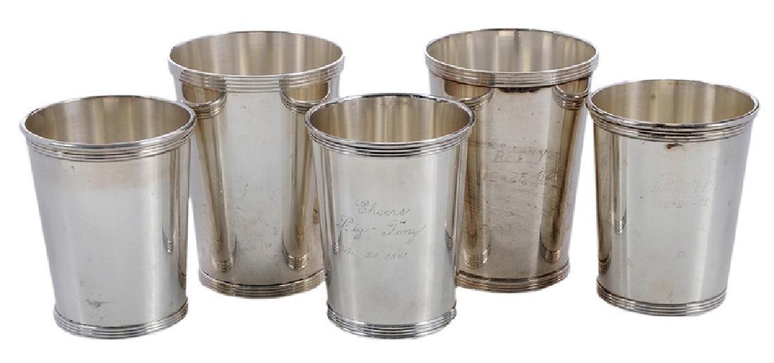 Twelve Sterling Julep Cups