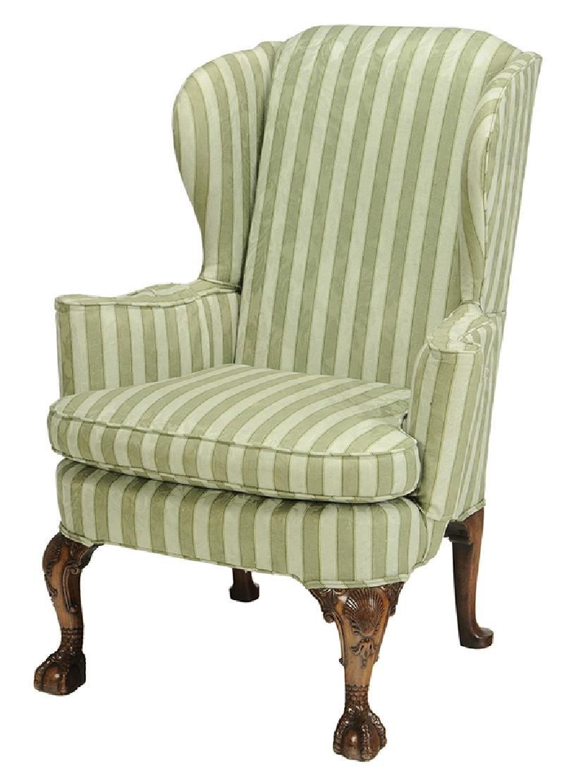 American Queen Anne Mahogany Easy Chair