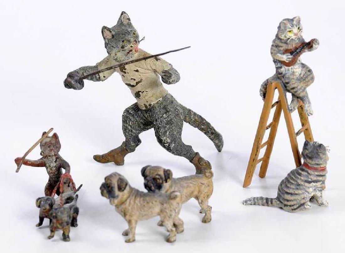 12 Minaiture Cold Painted Bronze Animal Figures - 3