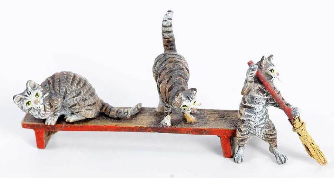 12 Minaiture Cold Painted Bronze Animal Figures - 4