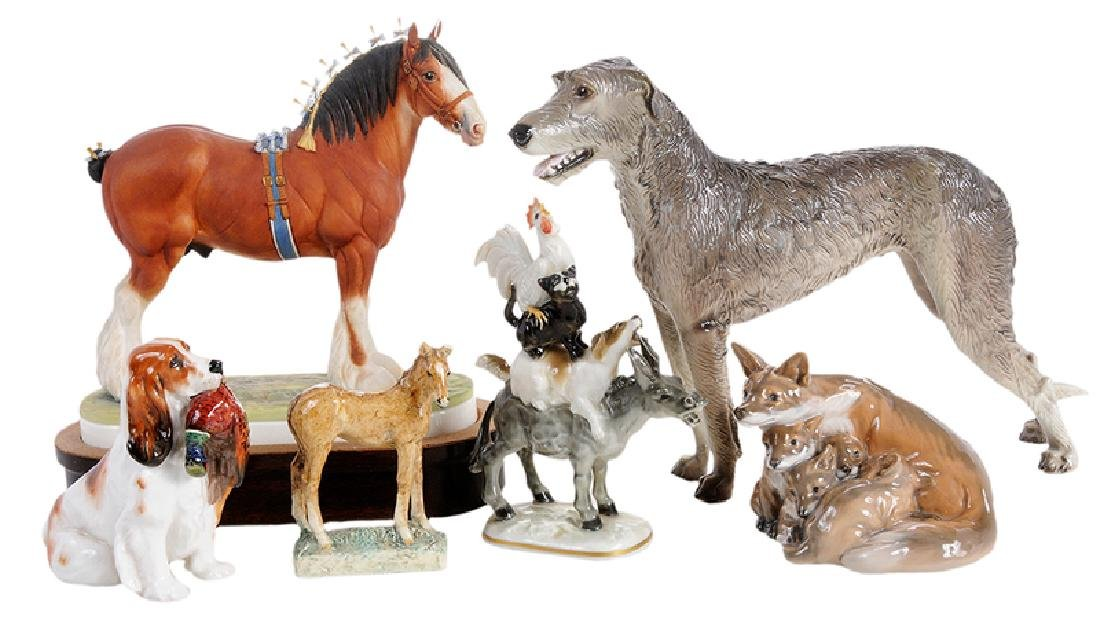 Six Porcelain Animal Figures