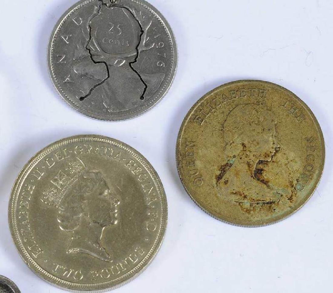 One Gold Ounce 50 Dollar Coin With Other Coins - 3