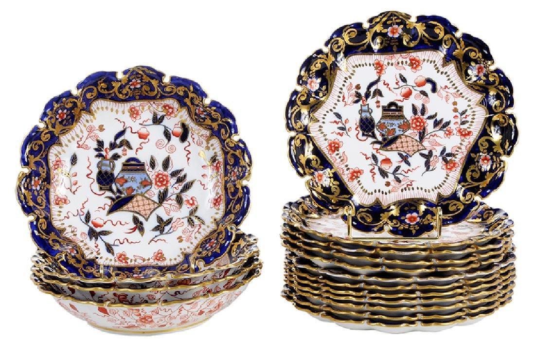 16 Pieces of British Imari Style Porcelain