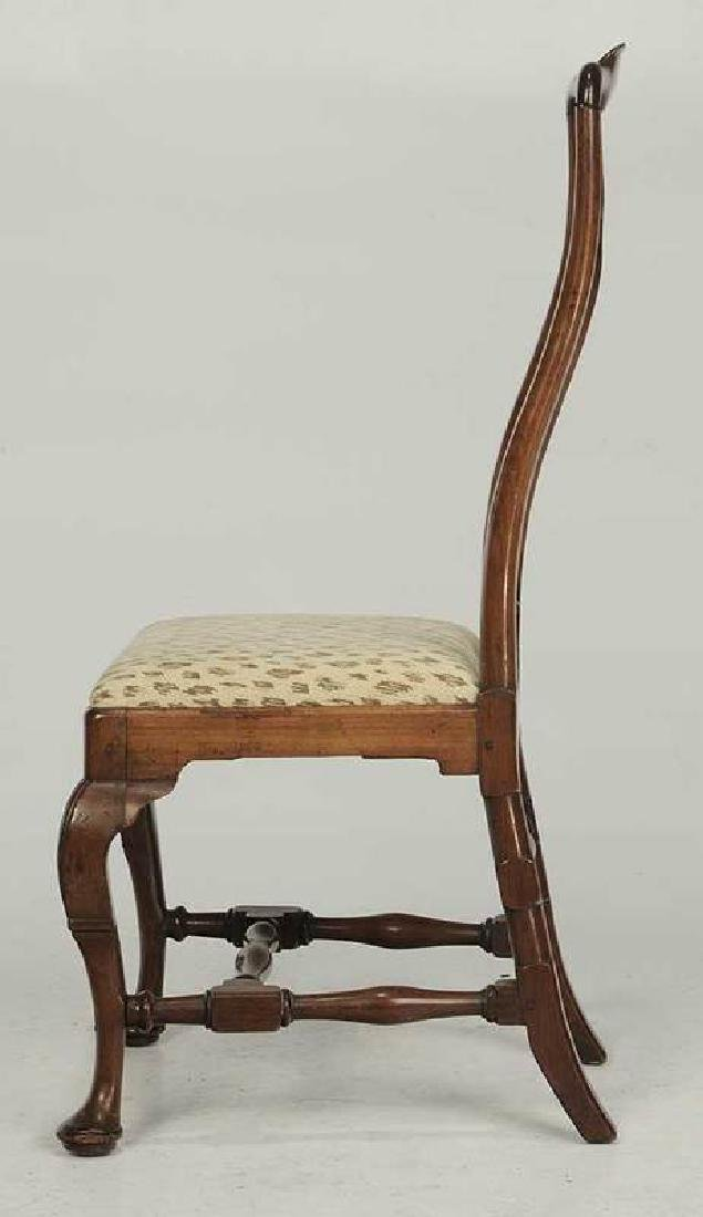 Queen Anne Marquetry Inlaid Walnut Side Chair - 5