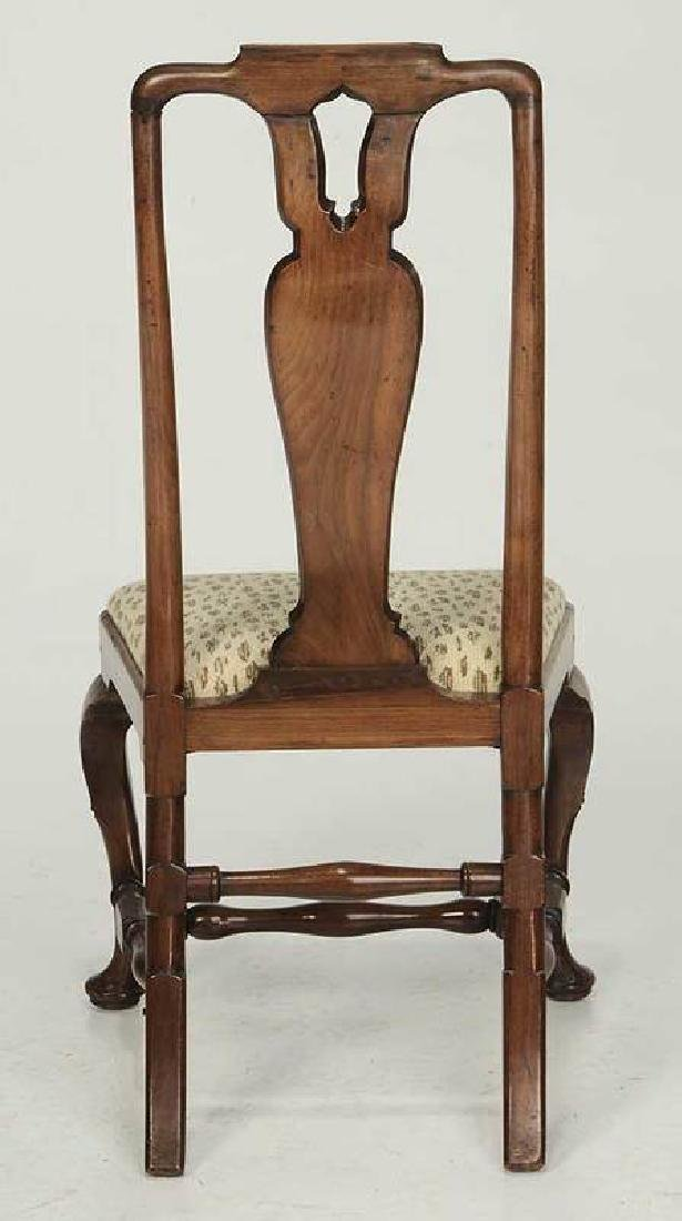 Queen Anne Marquetry Inlaid Walnut Side Chair - 6