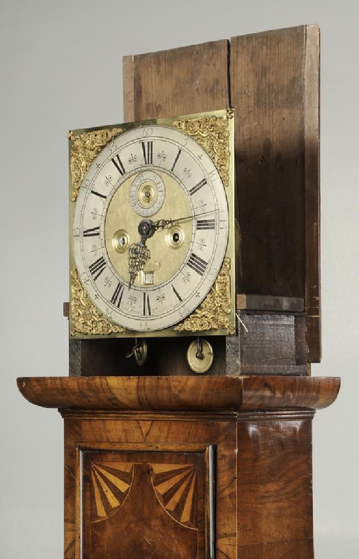 William and Mary Inlaid Walnut Tall Case Clock - 10