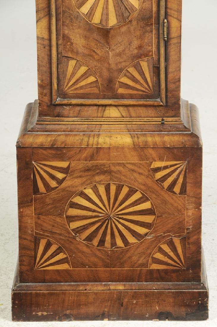 William and Mary Inlaid Walnut Tall Case Clock - 4