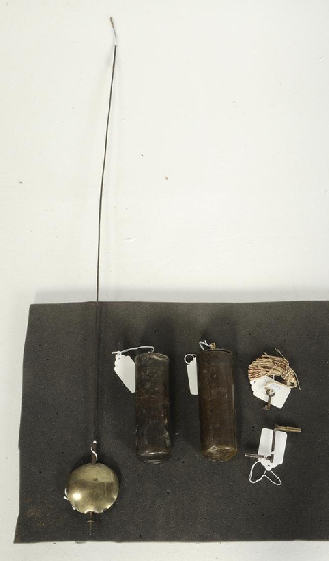 William and Mary Inlaid Walnut Tall Case Clock - 7