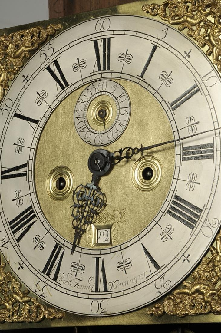William and Mary Inlaid Walnut Tall Case Clock - 9