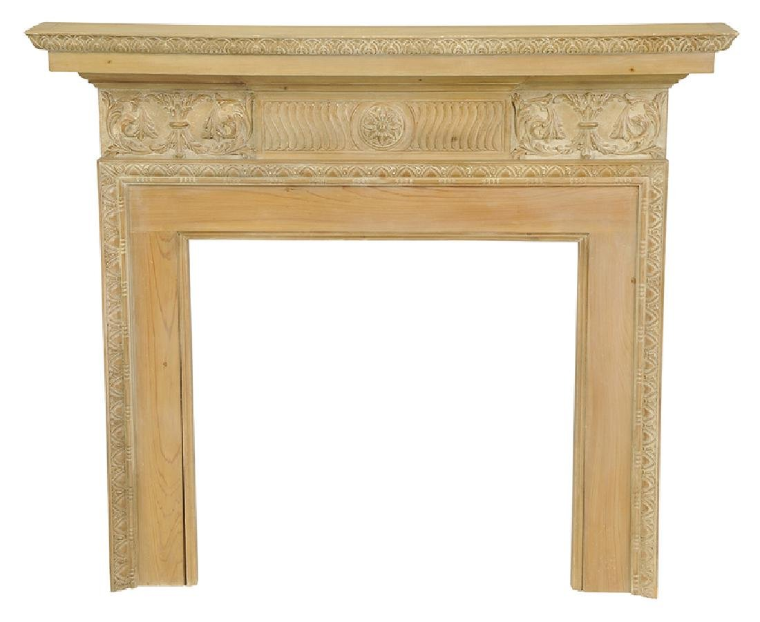 Chippendale Style Carved Fireplace Surround