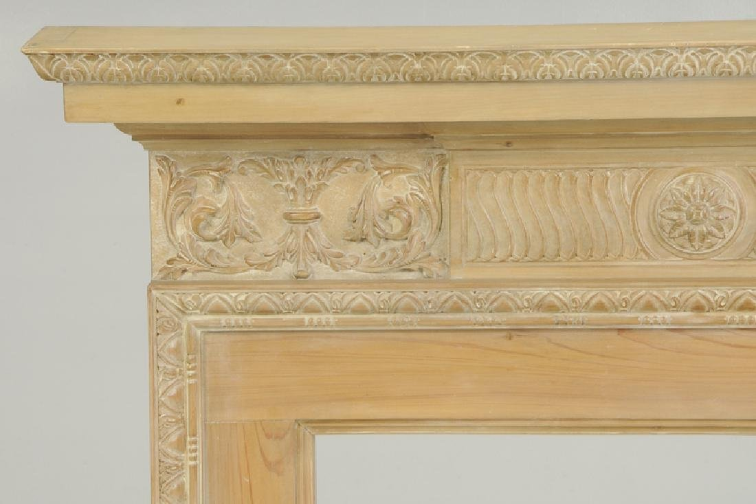 Chippendale Style Carved Fireplace Surround - 2