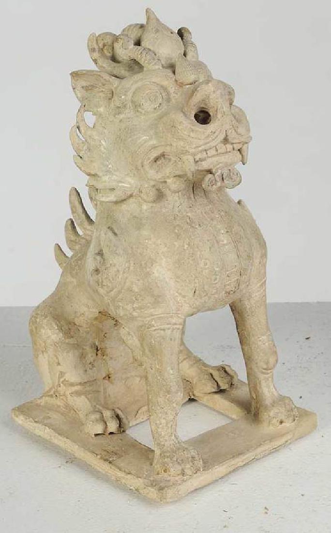 Two Sui Dynasty Straw Glazed Spirit Animals - 2