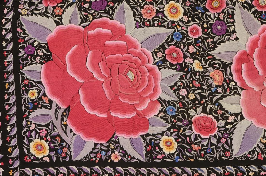 Two Asian Embroidered Silk Panels - 3