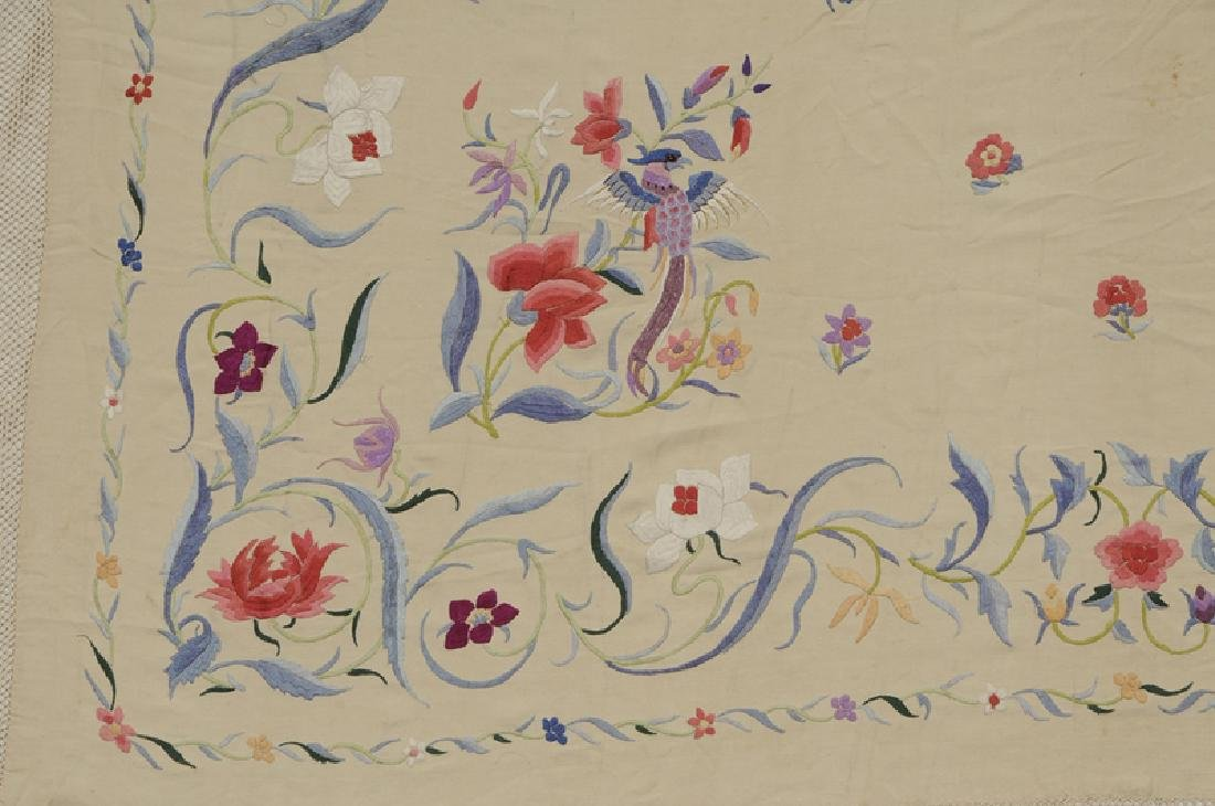 Two Asian Embroidered Silk Panels - 5