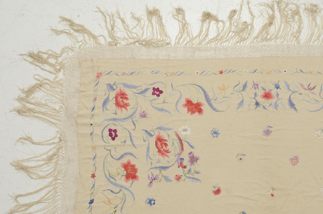 Two Asian Embroidered Silk Panels - 6