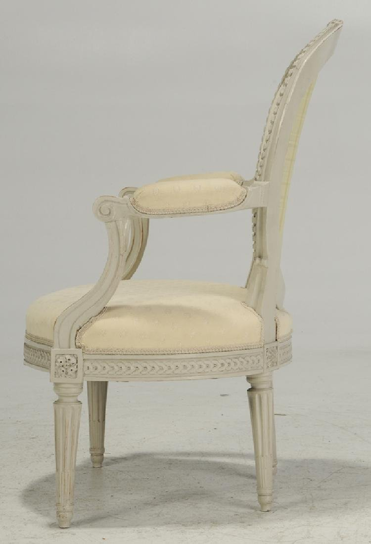 Set Four Louis XVI Style Decorated ArmChairs - 3