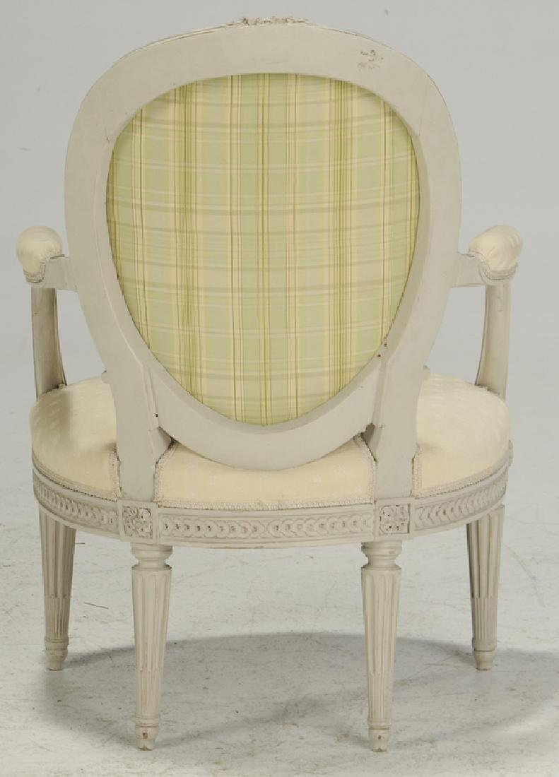 Set Four Louis XVI Style Decorated ArmChairs - 4