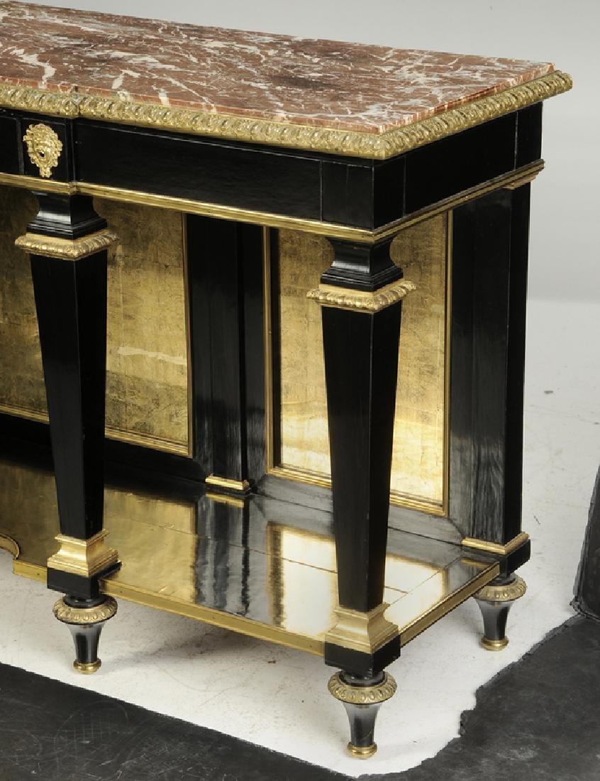 Louis XVI Ebonized Gilt Bronze Console Desserte - 10